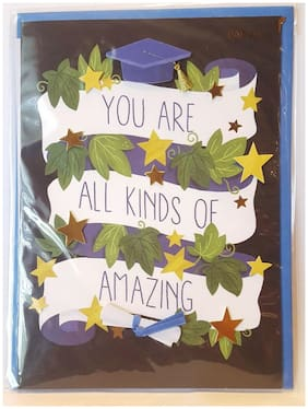 "PAPYRUS Graduation ""You Are All Kinds of Amazing"" 3D Greeting Card"
