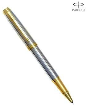 Parker Ambient Shiny CHROME Chiselled GT RB Pen