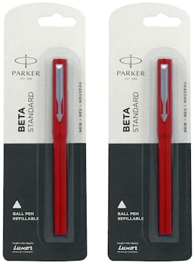 Parker Beta Standard BP CT - Red with Systemark Refill (systemark) F.Red ( Pack of 2 )
