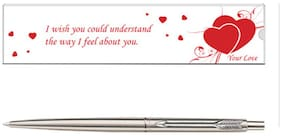 Parker Classic Valentine Edition Stainless Steel CT Ball Pen