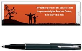 Parker Frontier Matte Black CT Roller Ball Pen