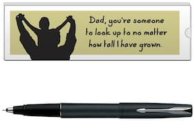 Parker Frontier Matte Black CT Roller Ball Pen With Dad Quote-6