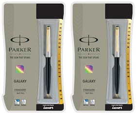 Parker Galaxy Std GT BP Black Body (Pack of 2)