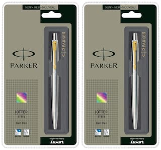 Parker Jotter Stainless Steel GT Ball Pen (Pack of 2)