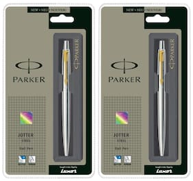 Parker Jotter Stainless Steel GT Ball Pen (Pack of 2)