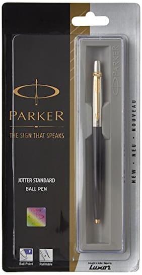 Parker Jotter 9000023185 Standard Ball Pen Gold Trim (Black)