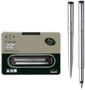 Parker Vector Stainless Steel CT(FP) Pen Gift Set