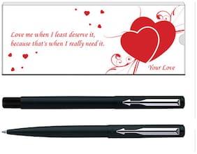 Parker Vector Valentine Edition Matte Black CT (RB) Pen Gift Set