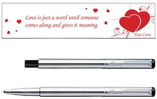 Parker Vector Valentine Edition Stainless Steel CT Roller Ball Pen