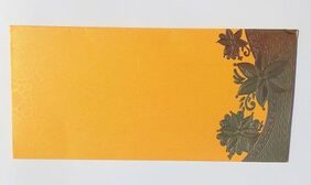 Parvenu Shagun Elegance Envelope in Yellow Color.Pack of 20 Pieces.