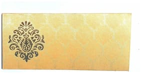 Parvenu Shagun Sarton Silk Envelopes in Golden Color.Pack of 20 pcs