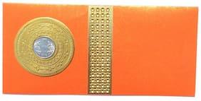 Parvenu Shagun Coin Envelopes In Orange Color.pack Of 20 pcs.