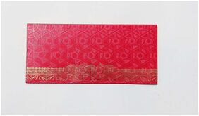 Parvenu Shagun Envelope in Round Flower Design Available in Red Color.Pack of 50 Pieces.
