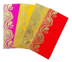Parvenu Shagun Kerry Gift Envelope in Multi Color.Pack of 50 Pieces.