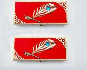 Parvenu Shagun Fancy Murli Cash Box.Pack of 2 Cash Box.
