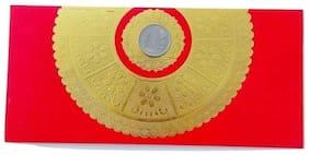 Parvenu Shagun Sun Flower Fancy Envelope in Red Color.Pack of 20 pcs.
