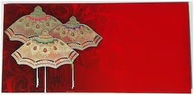 Parvenu Shagun Envelope with Golden Umbrella Design.Pack of 20 pcs.