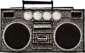 Patch - Boombox Cassette Tape Player Radio Speakers Retro Music Iron On #19623