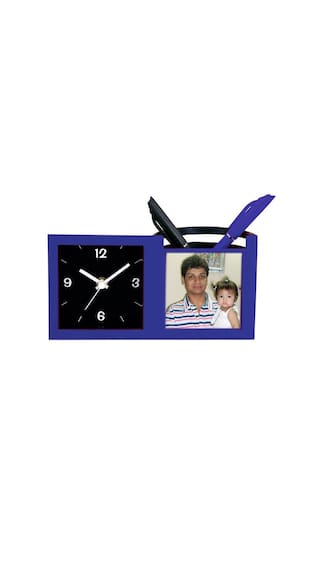 Buy Personalised frame with table clock and pen stand Online at Low ...
