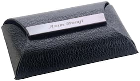 Personalized Black Leather Visiting card holder Carries 15 to 25 Cards