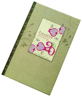 Picso 2020 Executive Style Superior Quality Regular Diary with Excellent Design, (Sunday Half Page,22 cm X 14 cm)