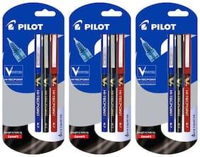 Pilot V7 (1 Blue + 1 Black + 1 Red) Pen Pack of 3