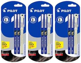 Pilot V7 Pack of 3 Roller Ball Pen  (6 Blue + 3 Black)