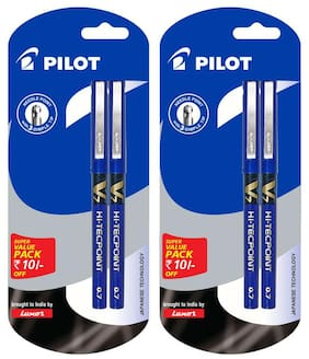 Pilot V7 (Pack of 4 Blue Pen) Pack of 2