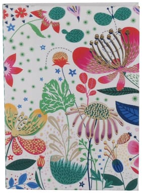 Pinaken Botanical Asteracea Multicolor Luxury Flexible Paper Cover Notebook 6x4