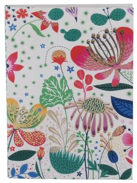 Pinaken Botanical Asteracea Multicolor Luxury Flexible Paper Cover Notebook 6x4
