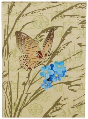 Pinaken Botanical Ferns Multicolor Luxury Flexible Paper Cover Notebook 6x4