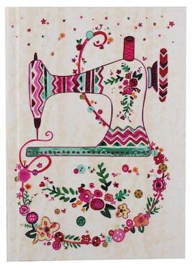 Pinaken Floral Vogue Multicolor Hard Case Paper Cover Notebook 7x5