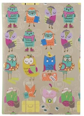 Pinaken Funky Owls Multicolor Luxury Flexible Paper Cover Notebook 8.5x6