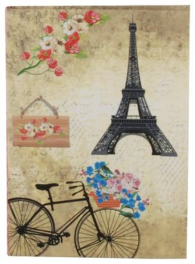 Pinaken Romantic Bicycle Multicolor Luxury Flexible Paper Cover Notebook 6x4