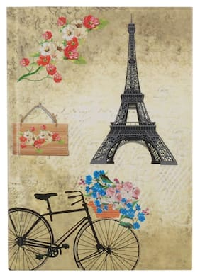 Pinaken Romantic Bicycle Multicolor Hard Case Paper Cover Notebook 7x5