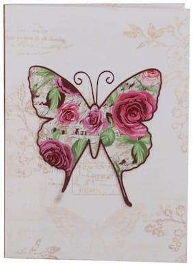 Pinaken Vintage Butterfly Multicolor Luxury Flexible Paper Cover Notebook 6x4