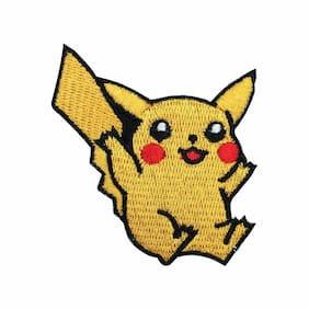 "Pokemon PIKACHU Embroidered Iron on Patch 2.5"" TALL"
