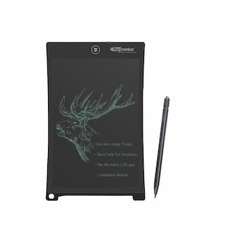 Portronics Ruffpad 10 + LCD notepad Black Color