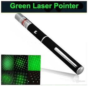 Powerful Green Laser Pointer Pen Beam Light 5mW Professional High Power Laser Hot Selling (Pack of 1) Black