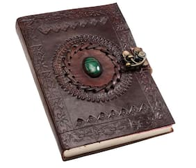 Pranjals House Pure Genuine Real Vintage Leather Handmadepaper Notebook Dairy For Office Home To Write Poem Daily Update Brown Size Of 7*5