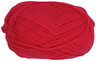PRANSUNITA100% Acrylic Multicolor Wool Yarn;4 ply 100 gm Ball;used in Hand Knitting;Art Craft;Crochet Thread Dyed Color Red
