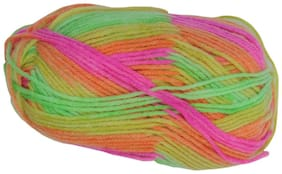 PRANSUNITA100% Acrylic Multicolor Wool Yarn;4 ply 100 gm Ball;used in Hand Knitting;Art Craft;Crochet Thread Dyed Shade no W09