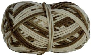 PRANSUNITA100% Acrylic Multicolor Wool Yarn;4 ply 100 gm Ball;used in Hand Knitting;Art Craft;Crochet Thread Dyed Shade no W12