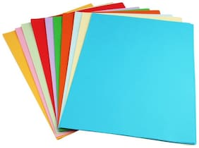 Premium Pack Of 100 A4 Size Assorted Color Sheets Copy Printing Papers Smooth Finish Home, School , Office Stationery