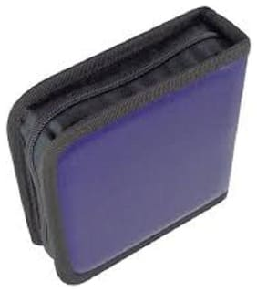 Premium Quality Leather Look Cover / Case / Folder / Pouch / Bag for 40 CD CDs / DVD DVD