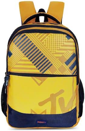 Priority 39 School bag - Yellow & Blue