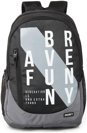 Priority 40 School bag - Black & Grey
