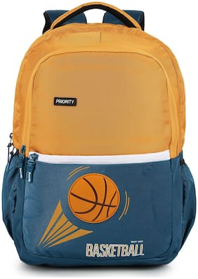 Priority 40 School bag - Yellow & Blue