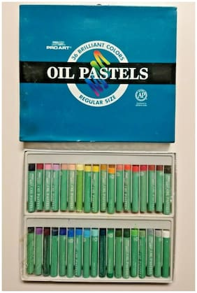 Pro Art Oil Pastel 36 Brilliant Color Set Regular Size Vintage Sealed Pro 3012