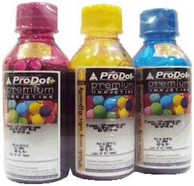 Prodot Color Ink For Use In HP Printers (Set Of 3 )